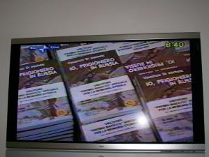 Ripresa televisiva tg1 Rai per il libro Io prigioniero in Russia allla Fiera internazionale del libro a Torino Maggio 2009