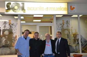 Da sinistra: Alessandro D'Orazio, Alessandro Gatta, Edoardo Vianello,Vincenzo Di Michele